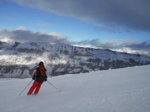 Skiing at Les Chaux  (1750m)